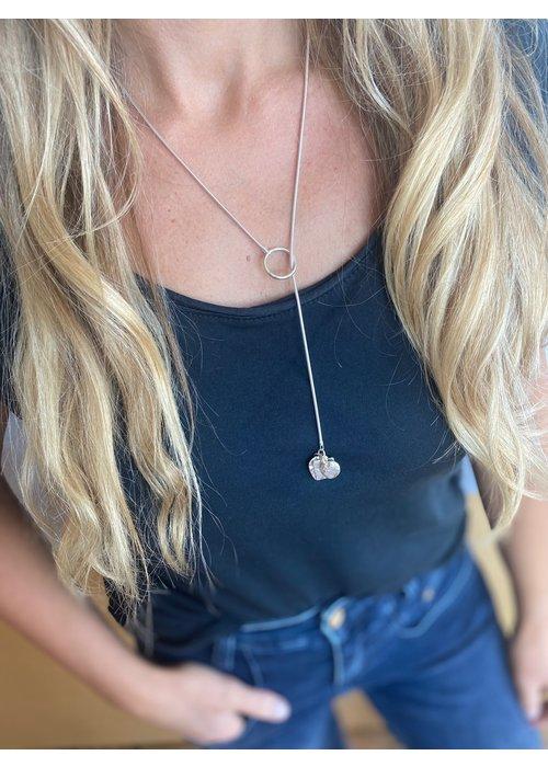 SUNDAY BEST Sunday Best Silver Lariat Necklace Shiny