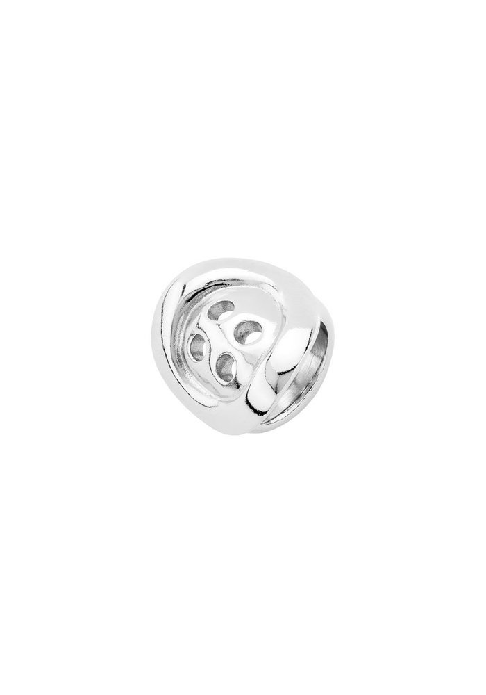 Uno de 50 Silver Melted Button Ring