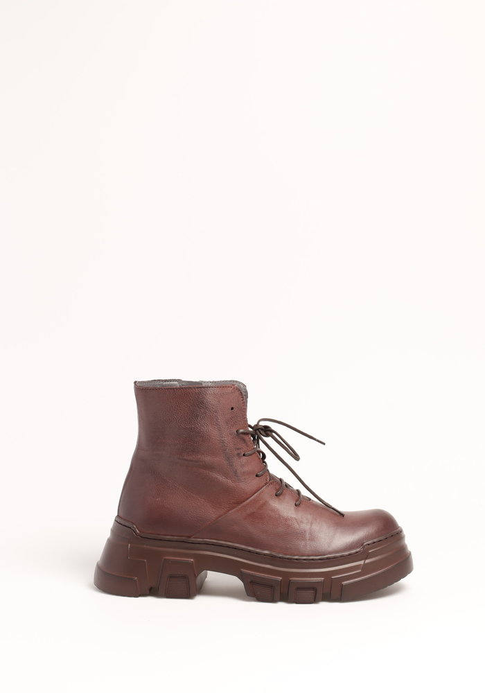 Lofina 1043 Lace Up Leather Ankle Boots