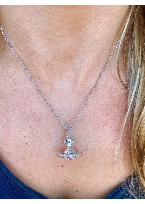 VIVIENNE WESTWOOD Vivienne Westwood Pina Small Orb Pendant Silver