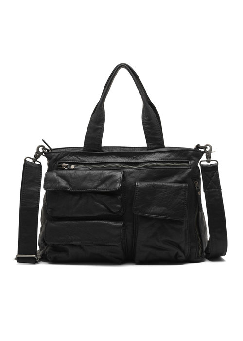 DEPECHE Depeche Medium Leather Pockets Bag 14942