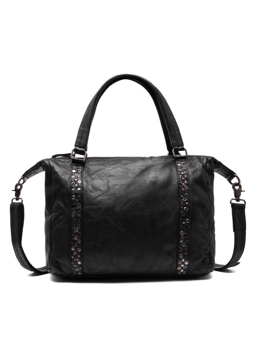 DEPECHE Depeche Medium Leather Stud Bag 14788