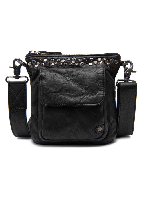 DEPECHE Depeche Crossover Leather Stud Bag 14784