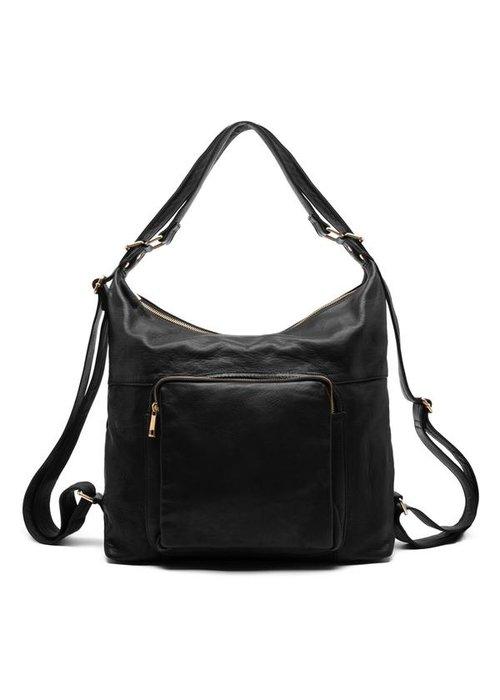 DEPECHE Depeche Large Leather Shoulder Bag 14718