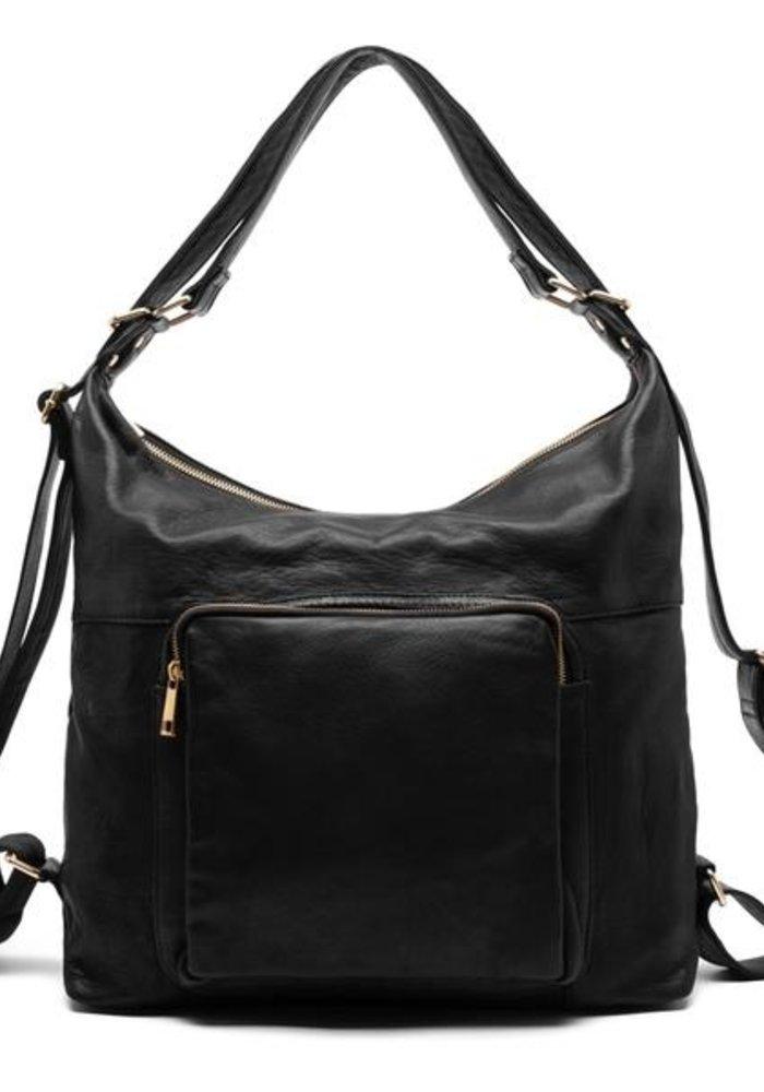 Depeche Large Leather Shoulder Bag 14718