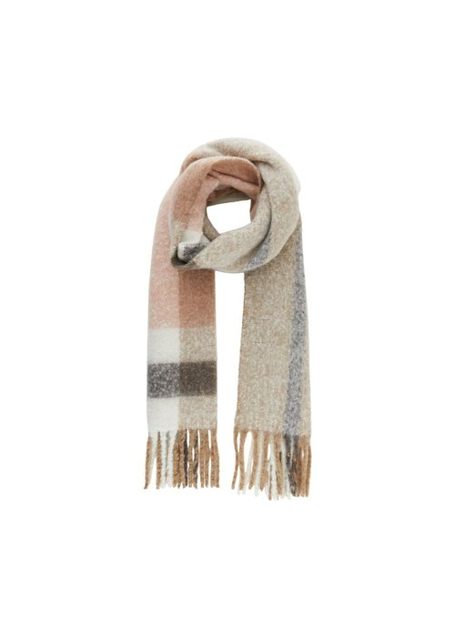 Pieces Bea Checked Oversized Scarf