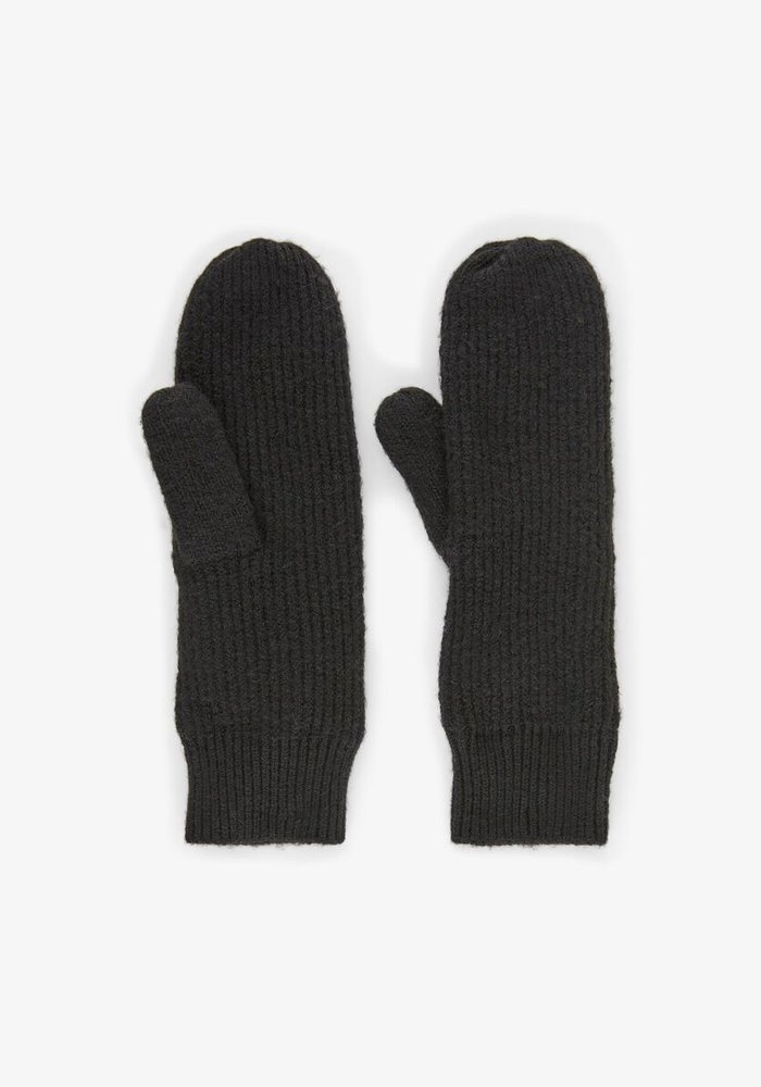 Pieces Benilla Ribbed Knit Mittens