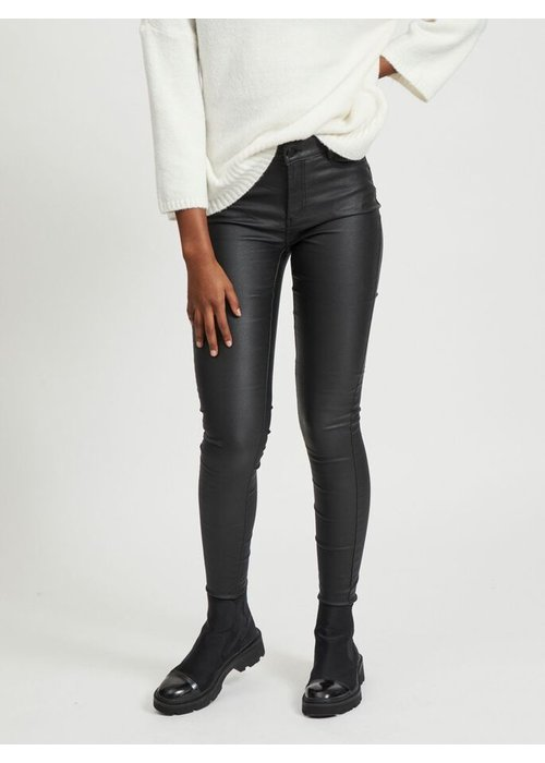VILA Vila Coated Skinny Fit Trousers