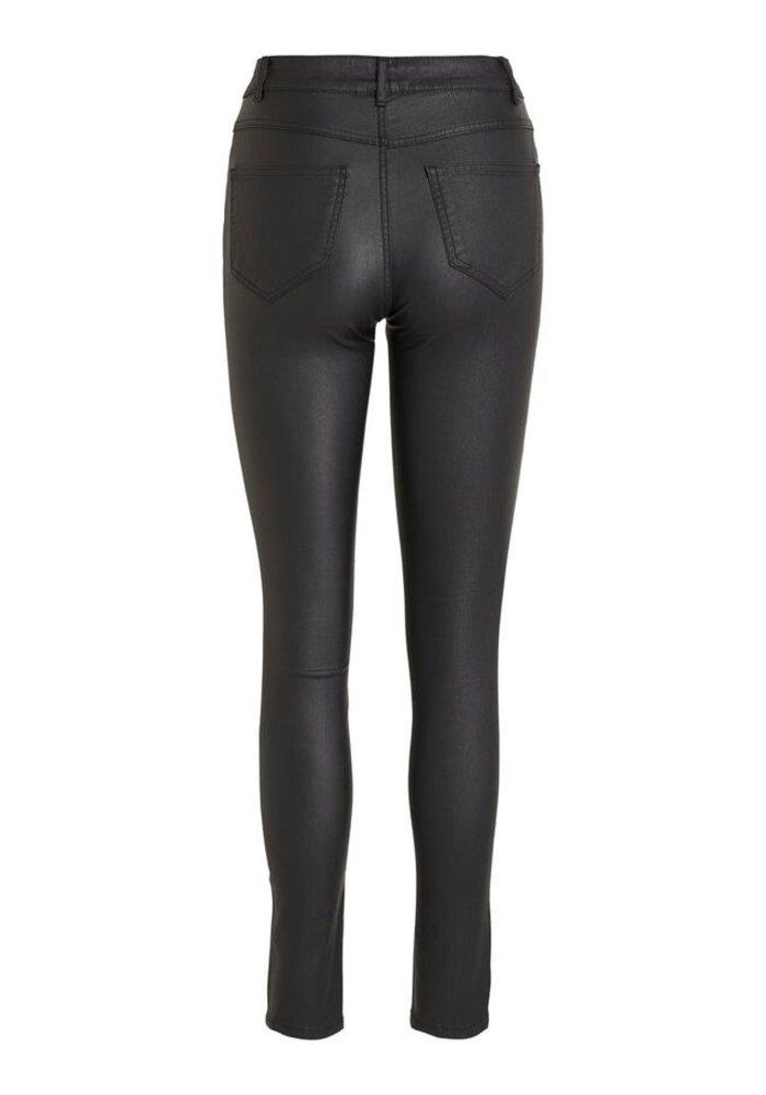 Vila Coated Skinny Fit Trousers