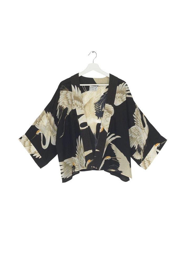 One Hundred Stars Stork Crepe Kimono