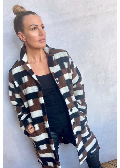 MASAI Masai Tura Wool Checked Coat