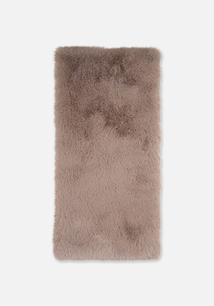 Rino & Pelle Stip Scarf Faux Fur