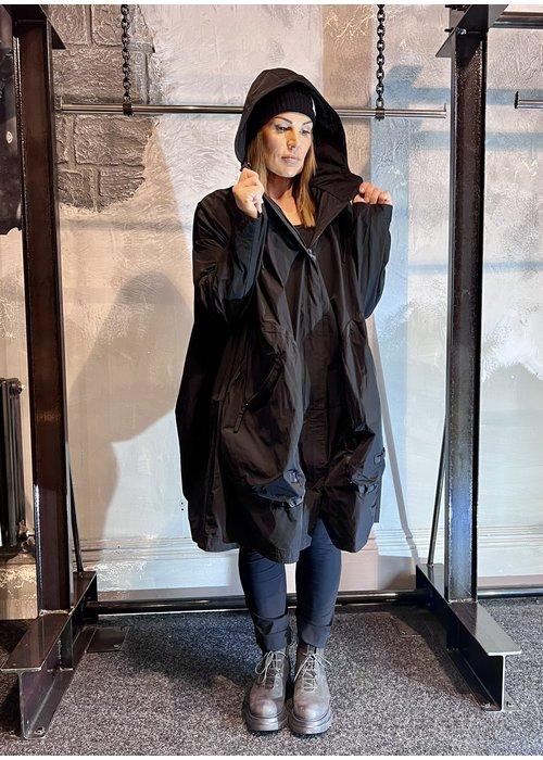 RUNDHOLZ BLACK LABEL Rundholz Black Label Hoody Pocket Coat