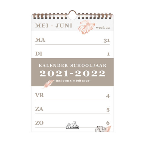 Spiraalkalender A4 2021-2022