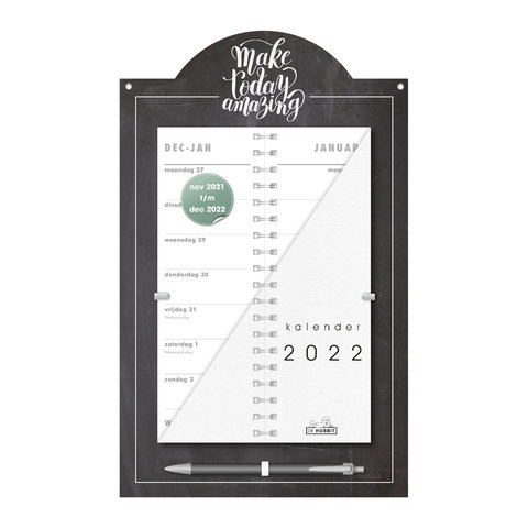 Omslagkalender Luxe Krijt 2022