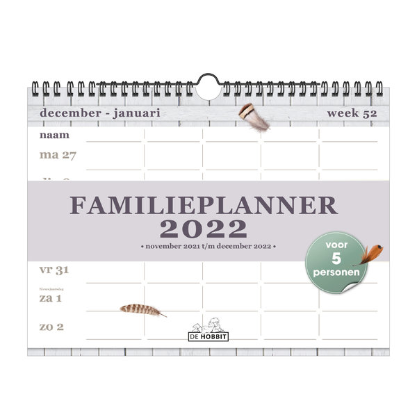 Familieplanner Spiraal D3 2022