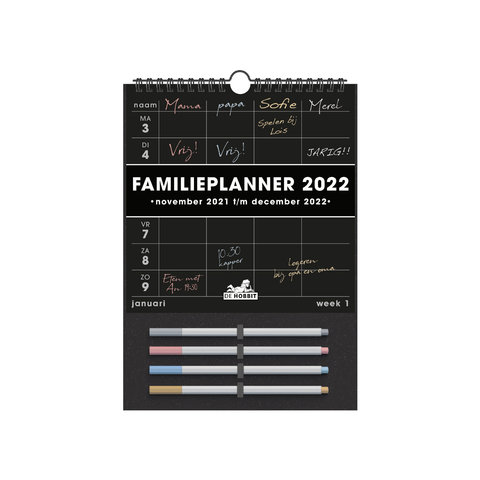 Familieplanner Markers D2 2022