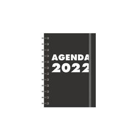 Grootletteragenda A6 Zwart 2022