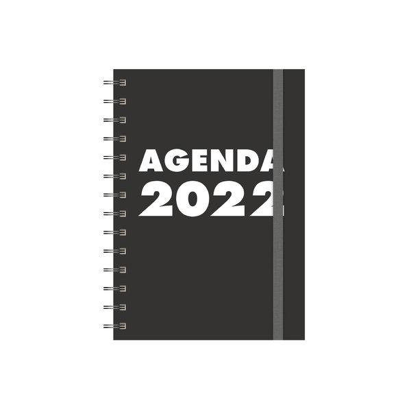 Grootletteragenda A5 Zwart 2022