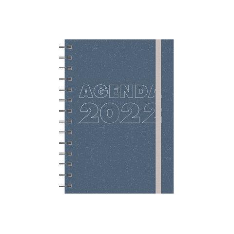 Grootletteragenda A5 Blauw 2022