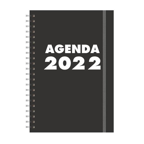Grootletteragenda A4 Zwart 2022