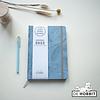 Agenda A5 Blauw 2022 + Notitieboekje A6