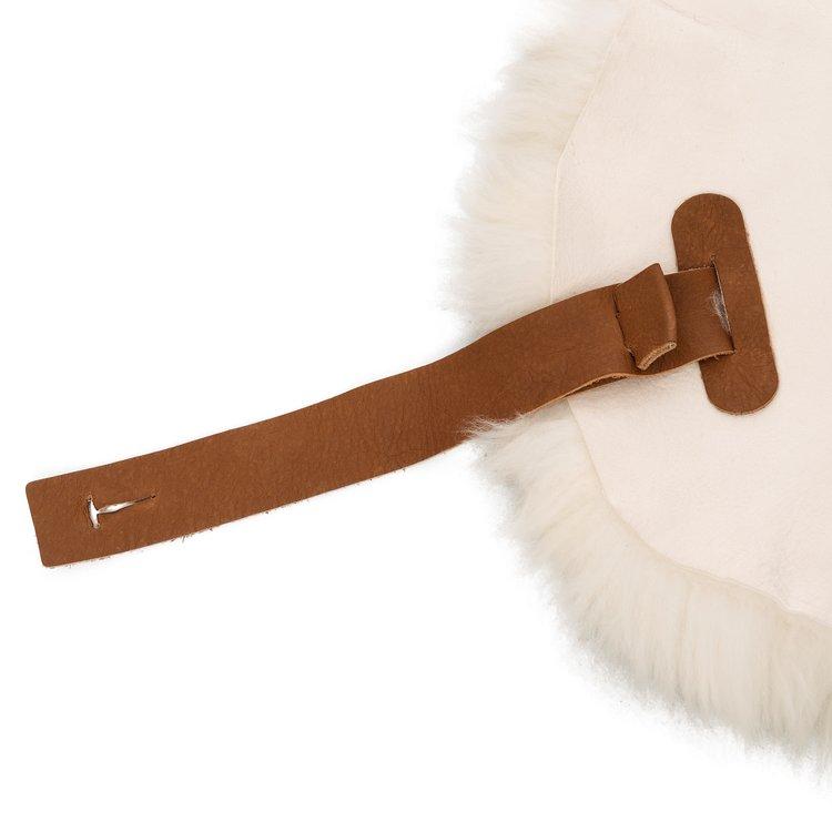 Weltevree Sheepscoat wit en bruin - Met leren lus