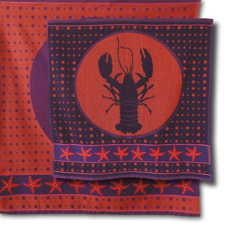 Mariëtte Wolbert Lazy Lobster - Handdoek 60 x 60 cm