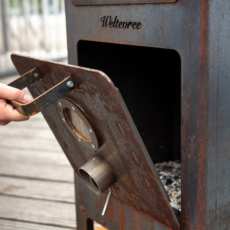 Weltevree Outdooroven Door - Deur voor het haardgedeelte met kijkglas.