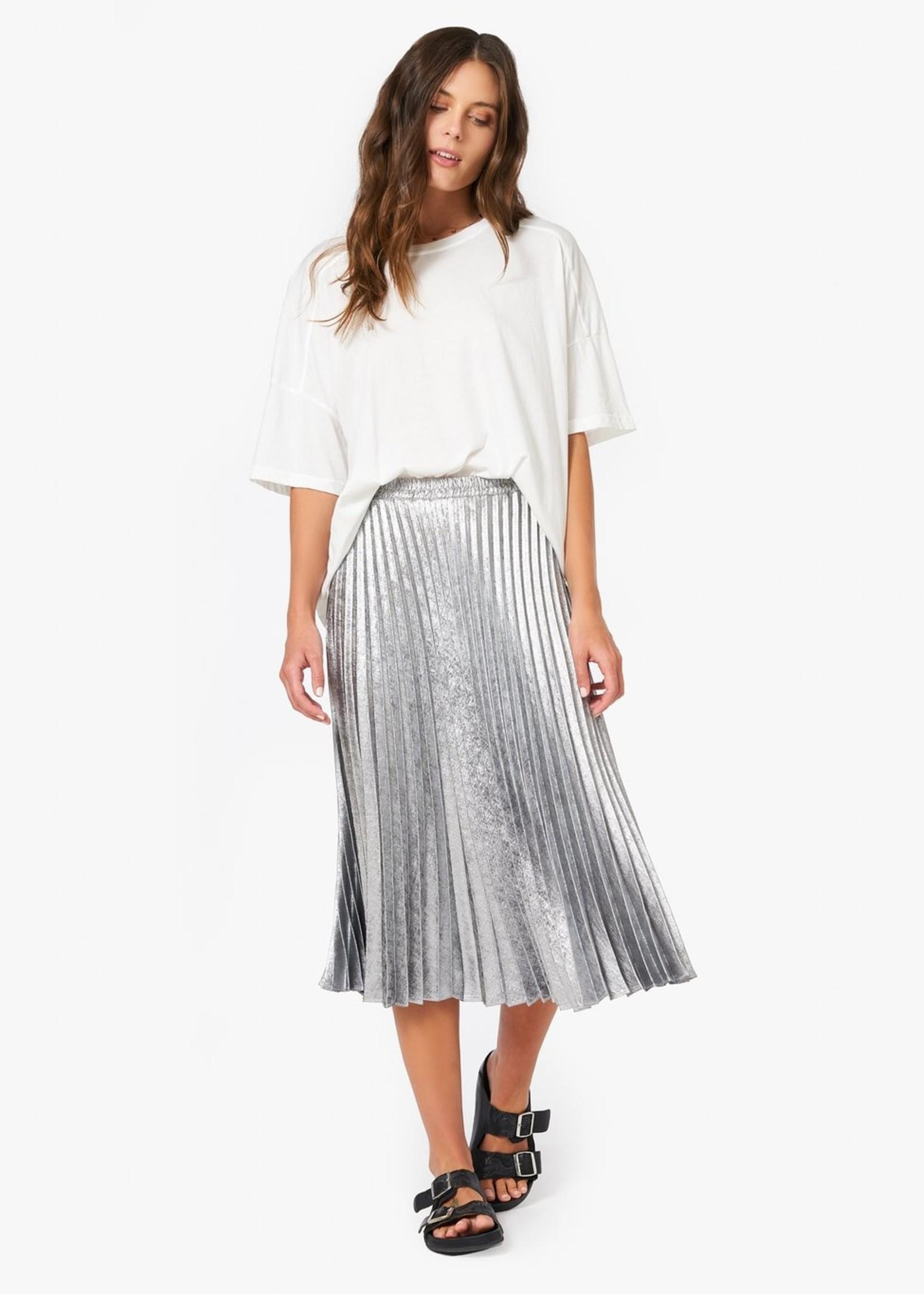 xirena xirena queen pleated skirt silver