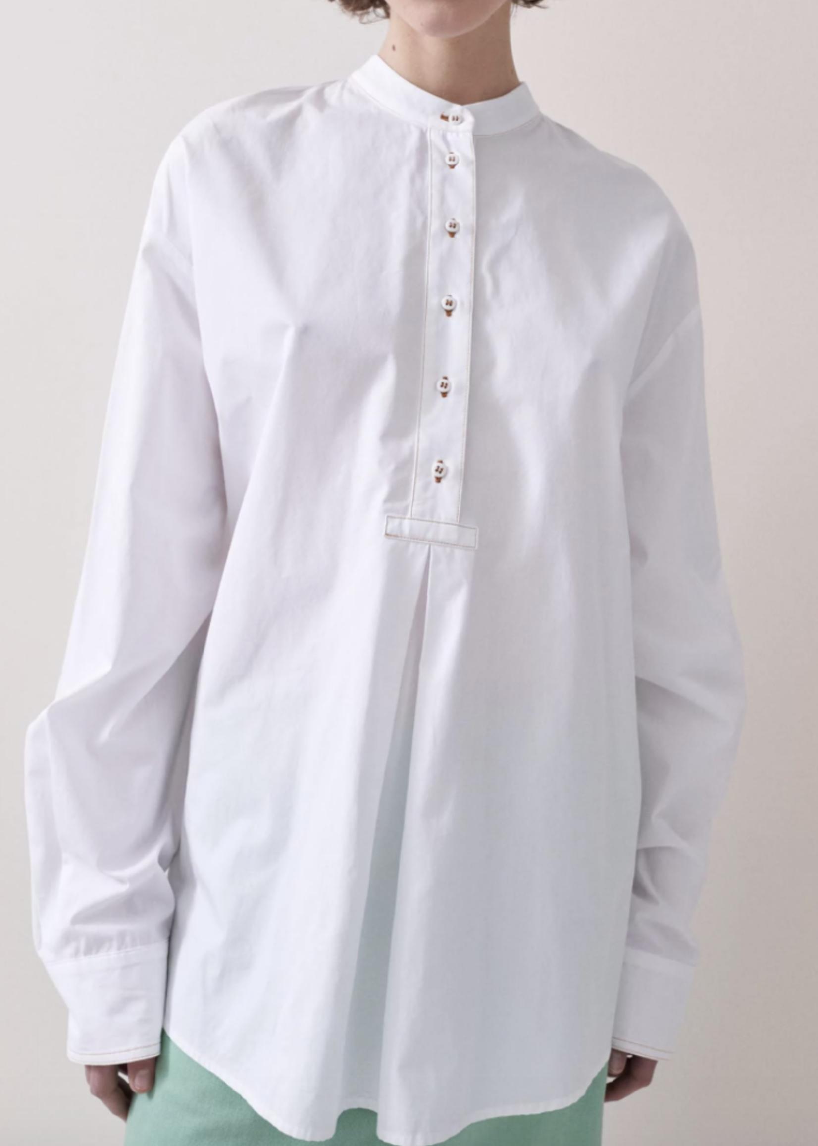rikastudios rika studios kiara shirt white cotton