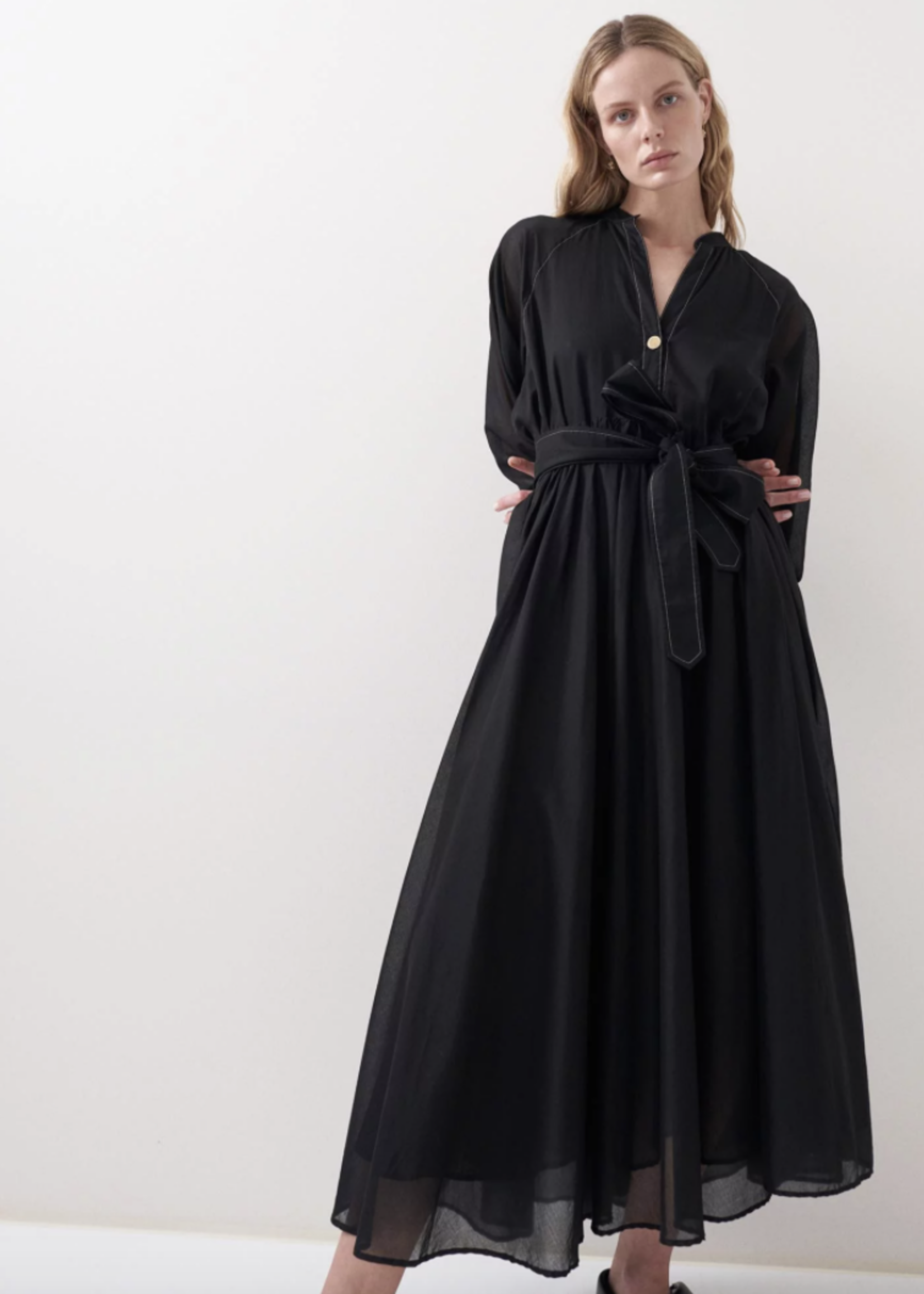 rikastudios rika studios athena dress black cotton s