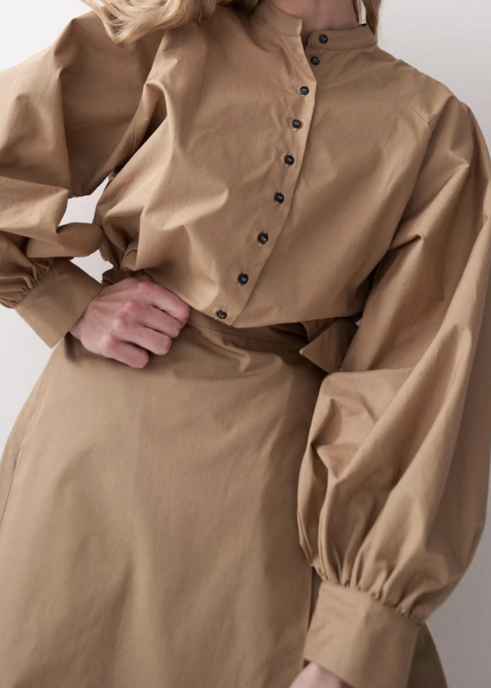 rikastudios Rika Studios joan shirt cotton khaki