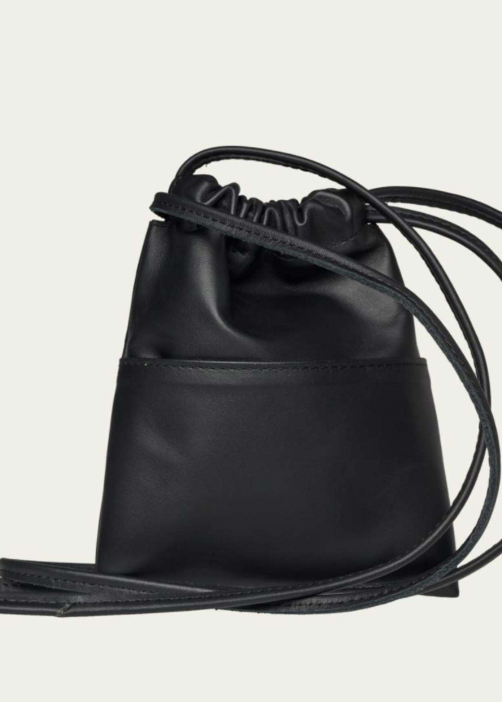 rikastudios rikastudios petit leather bag black