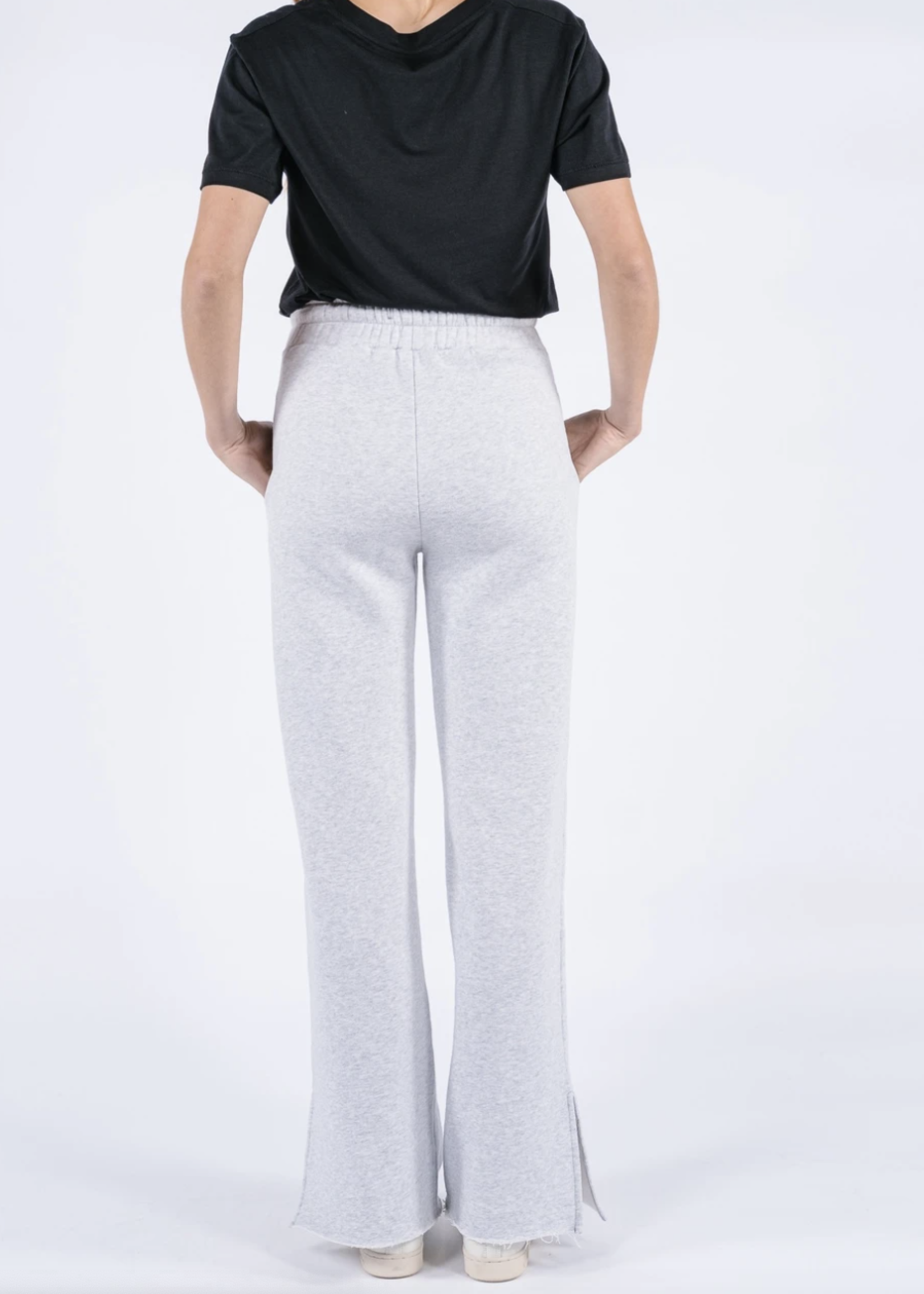 Ame ame antwerp sweat pants with side slits grey clear