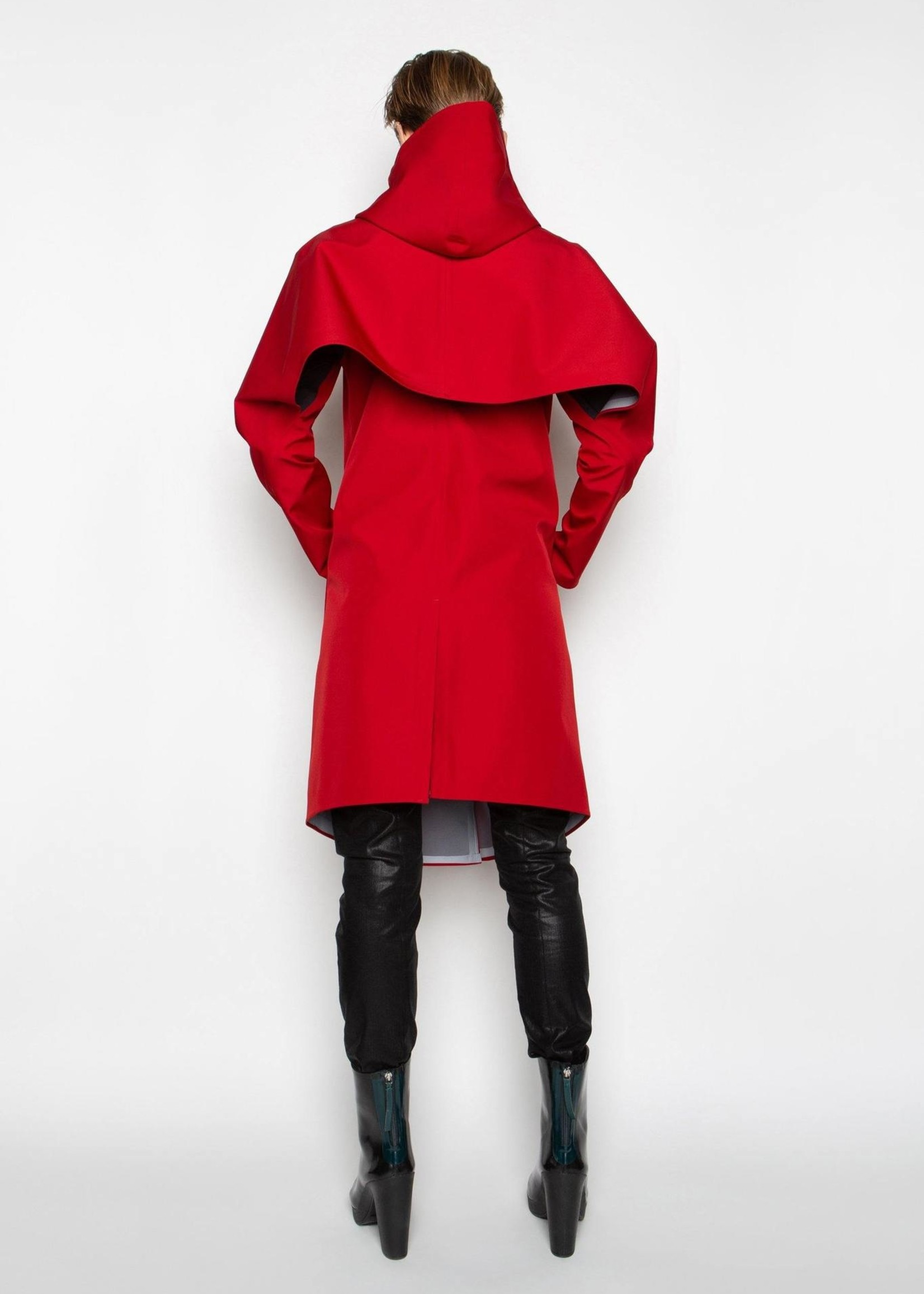 By Brown By Brown wave raincoat red M