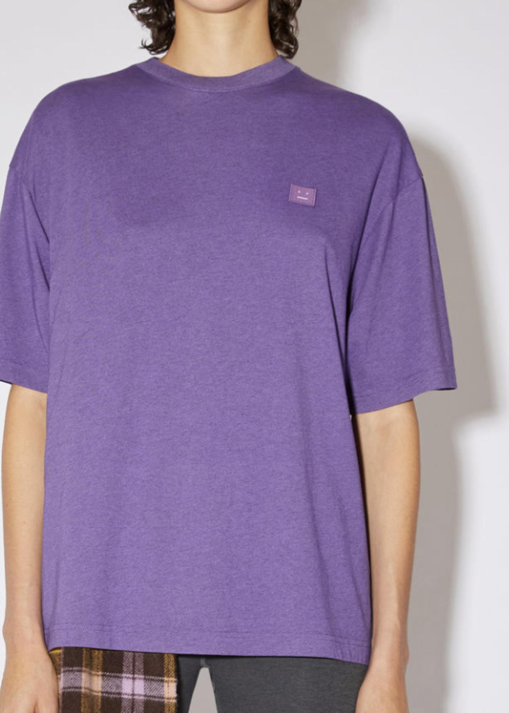 Acne Studios acnestudios exford melange face longsleeve tee electric purple