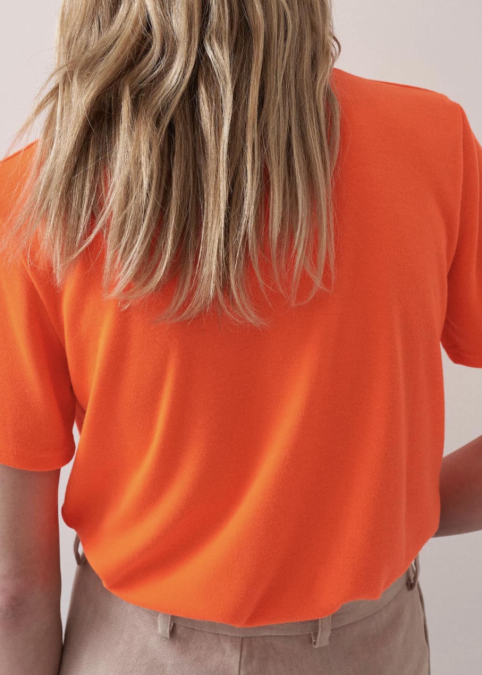 rikastudios rika studios mia tee polyesterneon orange