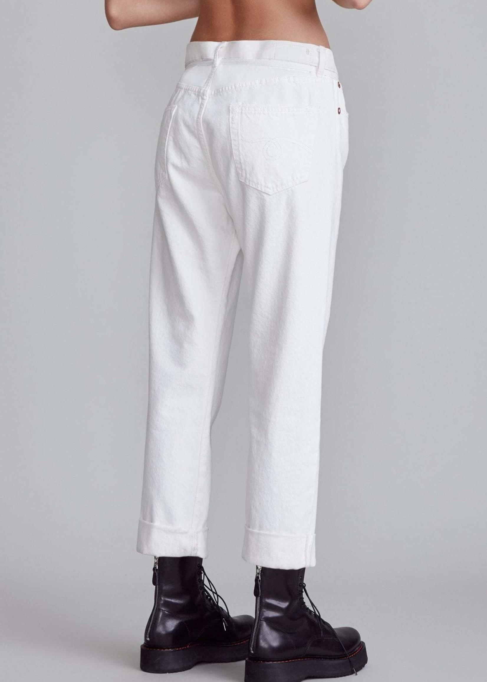 r13 r 13 paperbag hayden large off white jeans