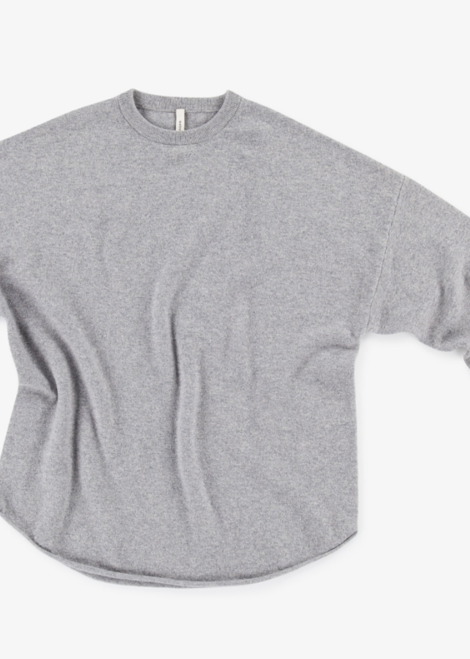 extremecashmere x extreme cashmere crewhop grey melange