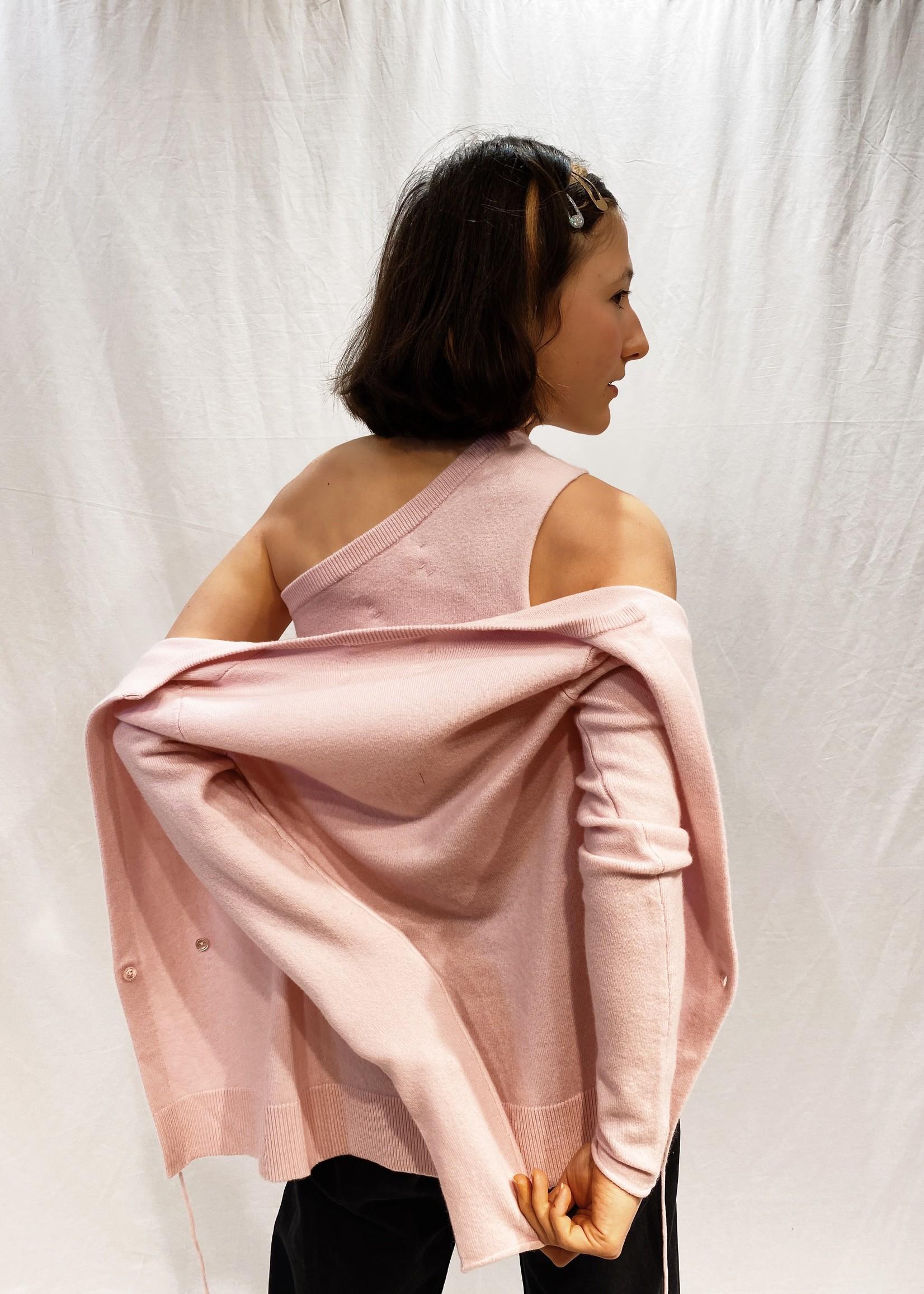 extremecashmere x Extreme cashmere asymmetrie top mallow