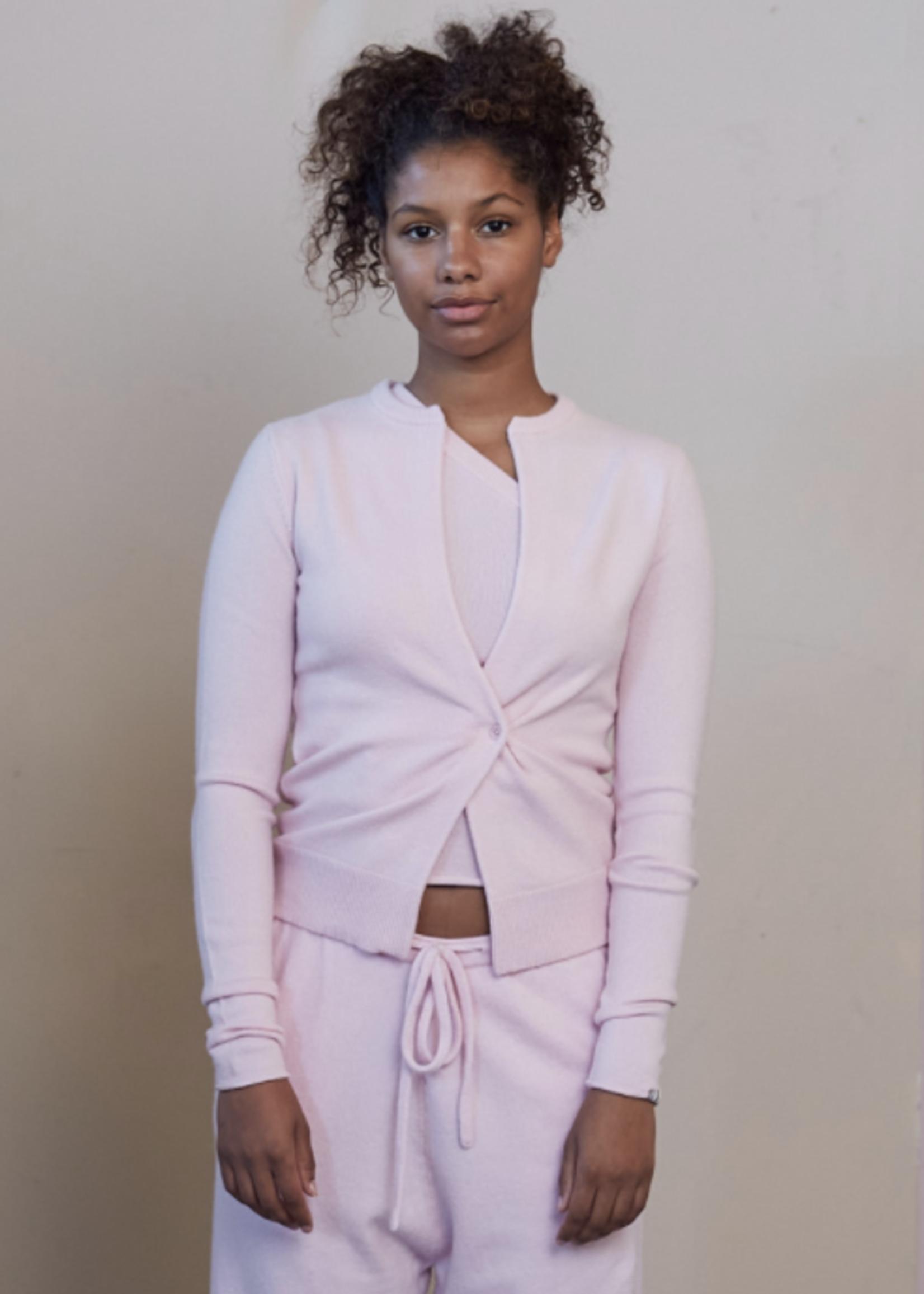extremecashmere x Extreme cashmere x geisha mallow pink vest