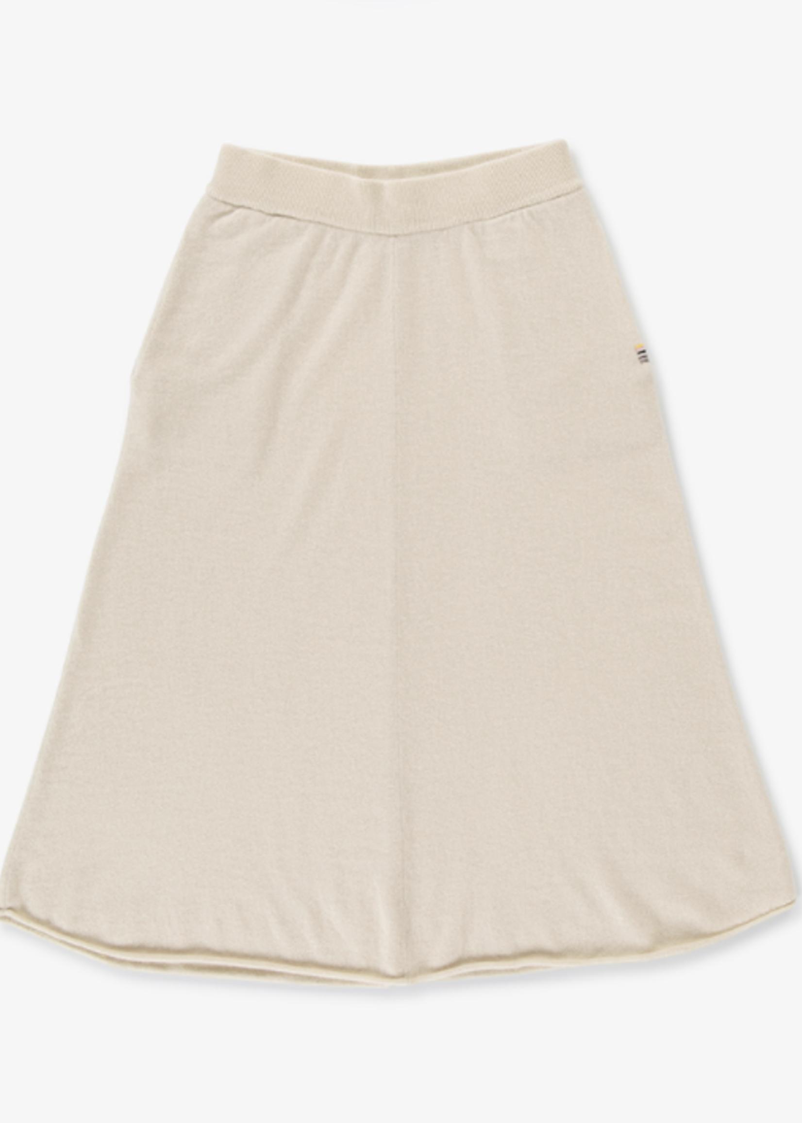 extremecashmere x extreme cashmere midi beige skirt