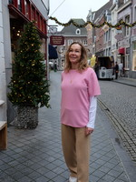 extremecashmere x extreme cashmere tee, glamour pink