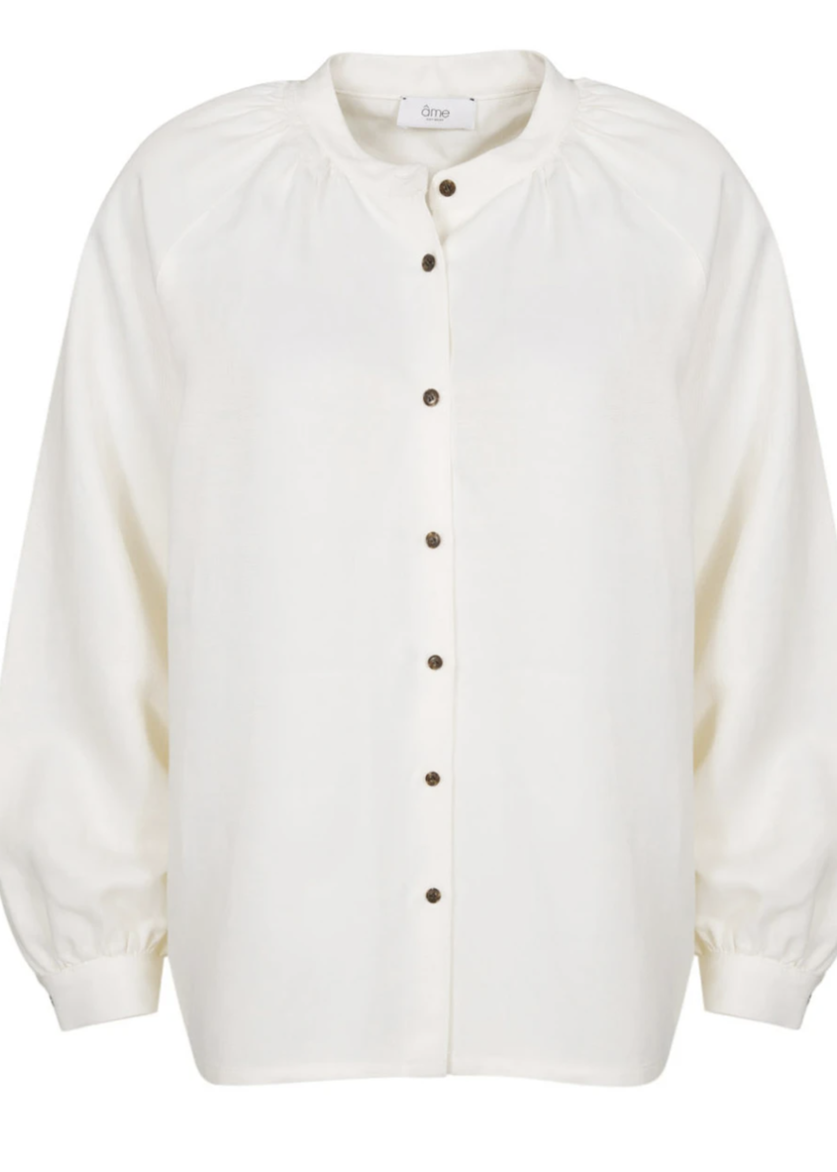 Ame ame antwerp loose shirt front buttons off white