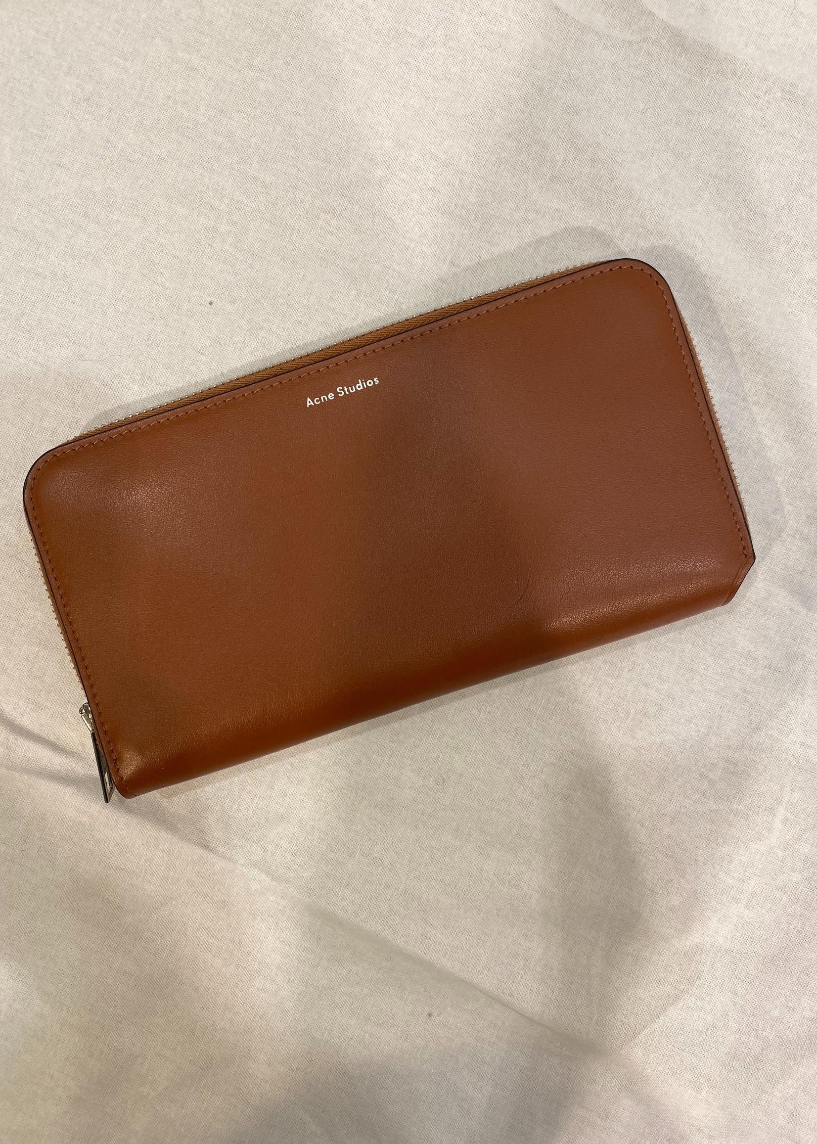 Acne Studios acnestudios wallet camel leather