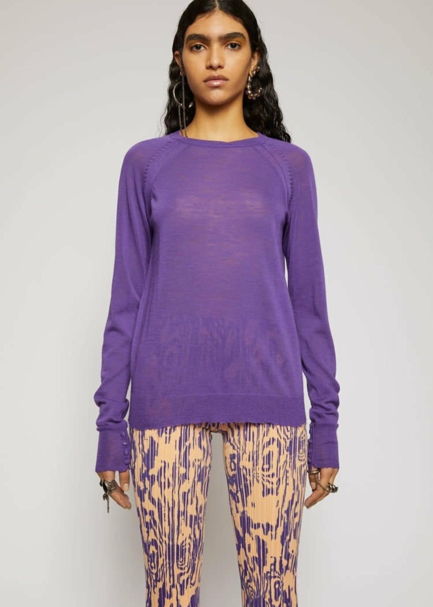 Acne Studios acnestudios knit katerina twisted knit electric purple