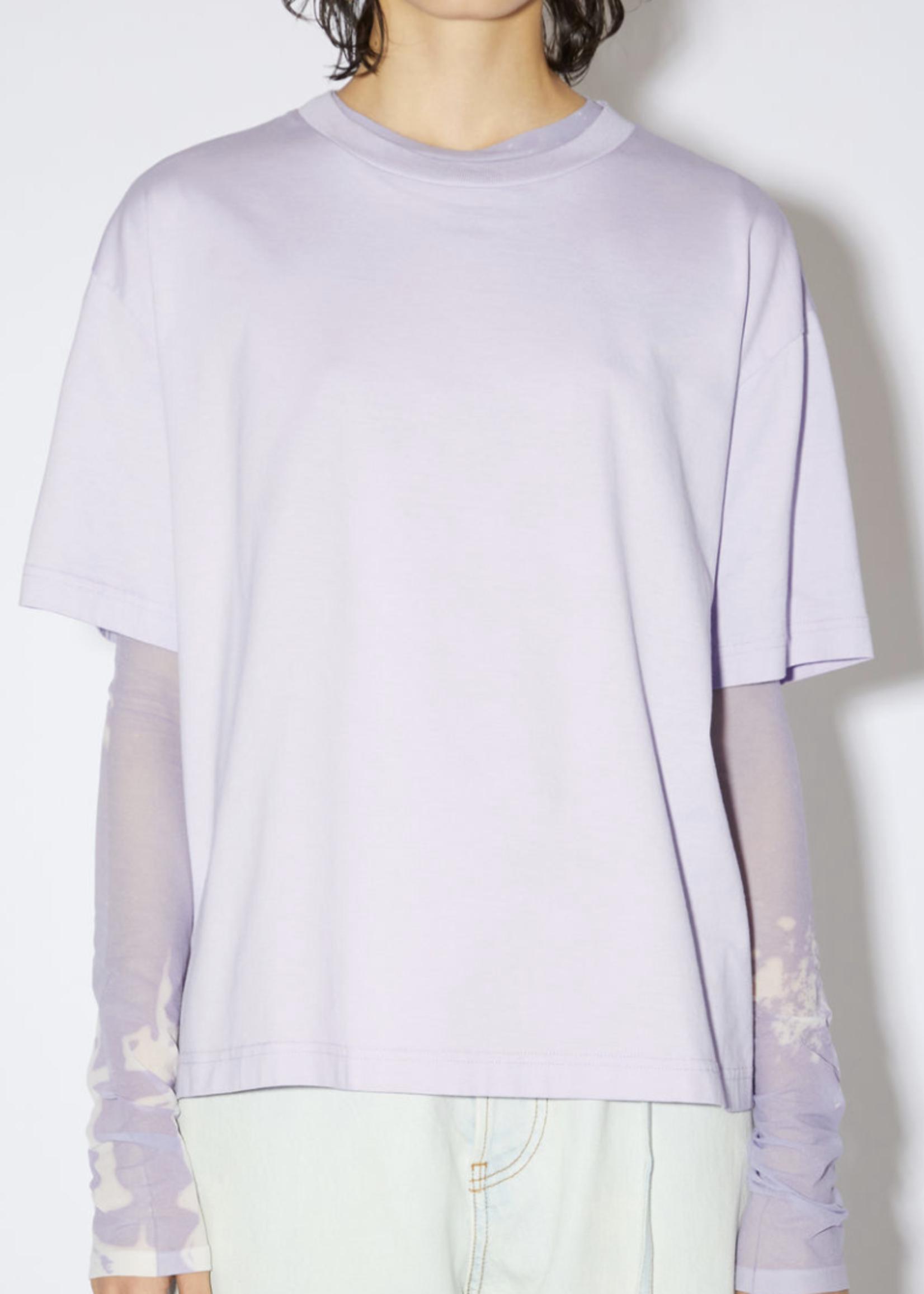 Acne Studios Acnestudios edie pink label shirt short sleede
