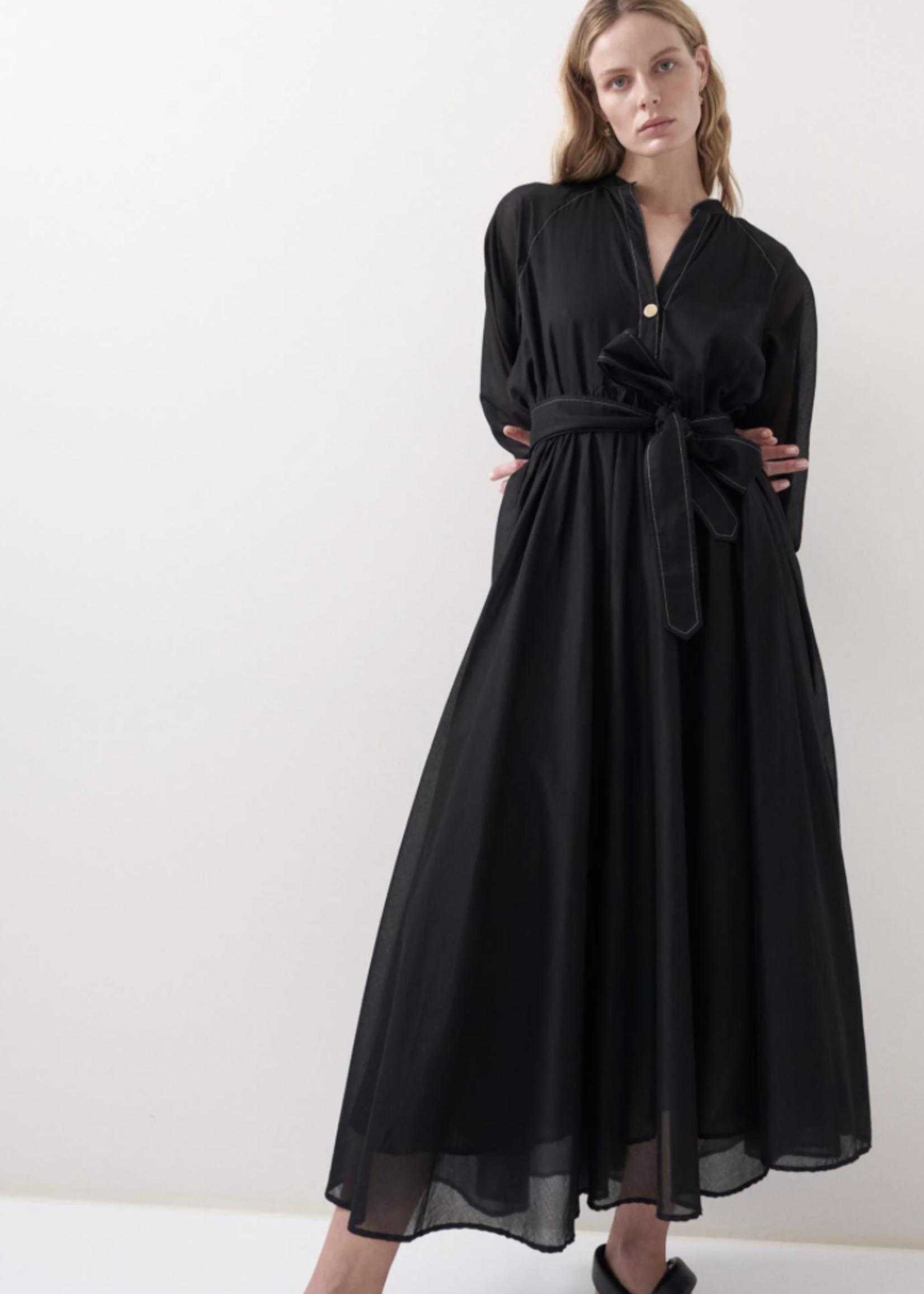 rikastudios rika studios athena dress cotton black s