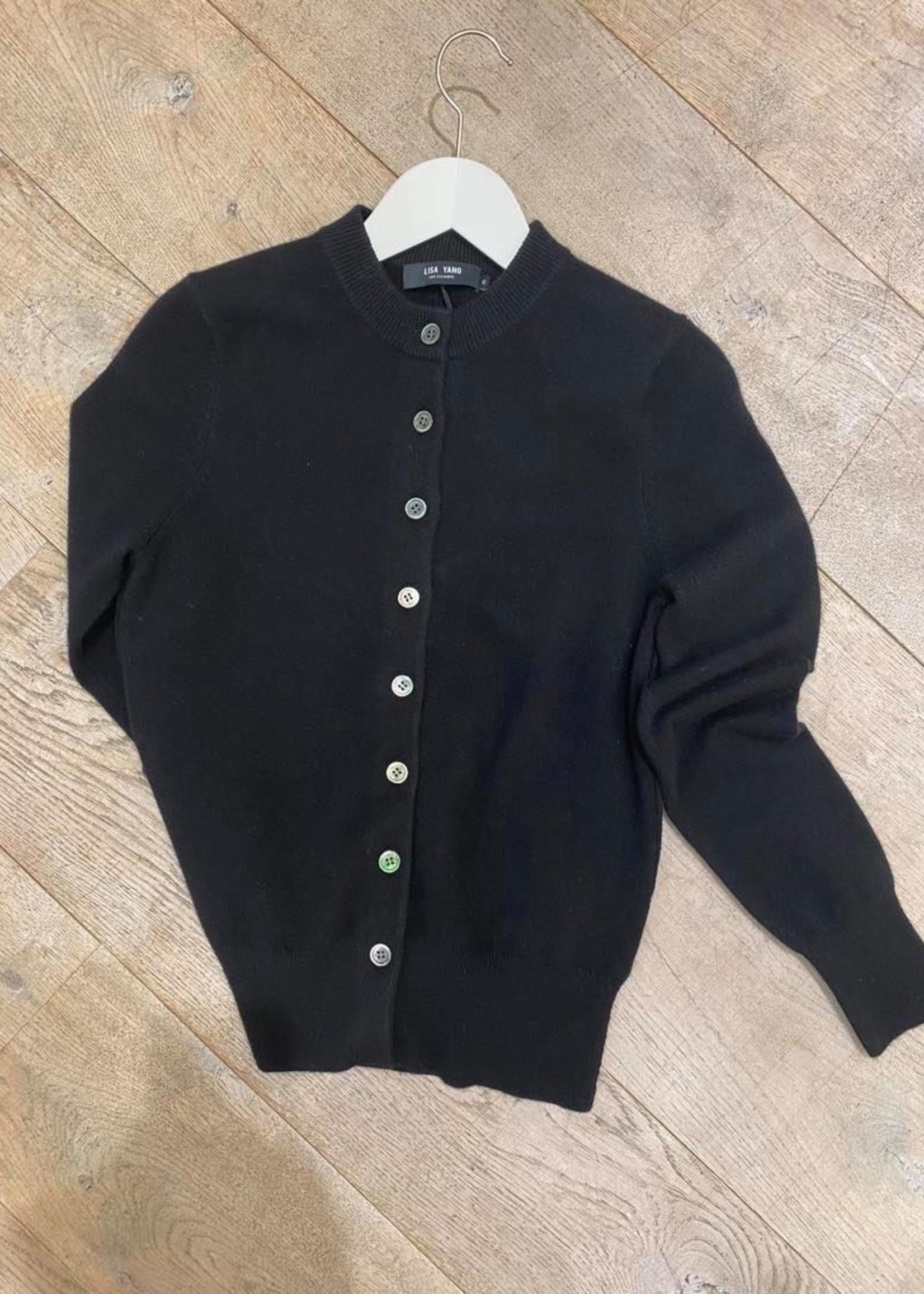 lisa yang lisa yang cashmere blacke cardigan black  size 0